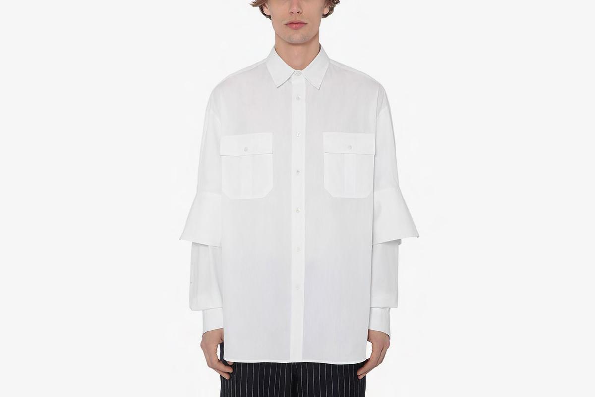 Poplin Shirt W/ Double Cuffs