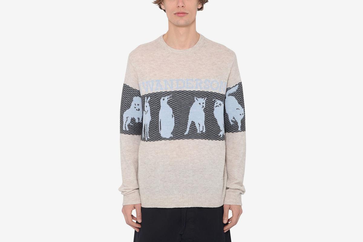 Jwa Animal Logo Knit Sweater