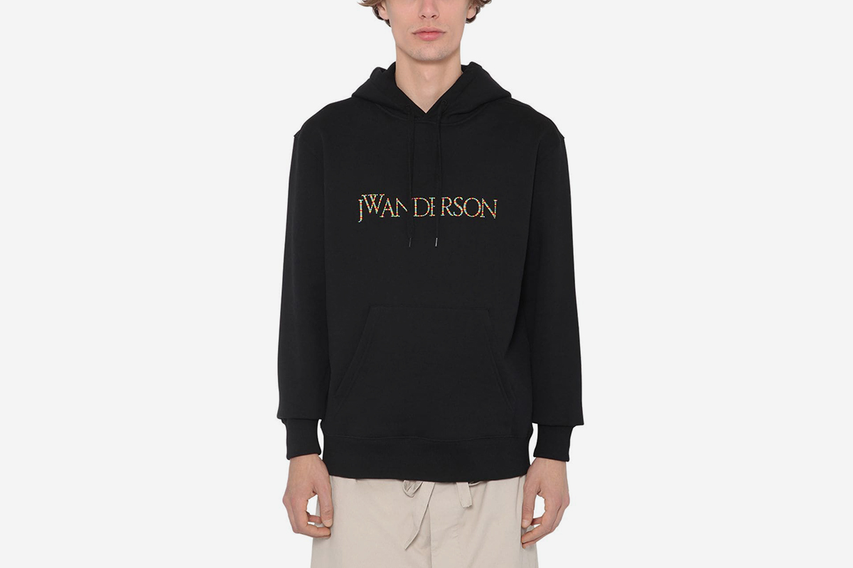 Embroidered Cotton Sweatshirt Hoodie