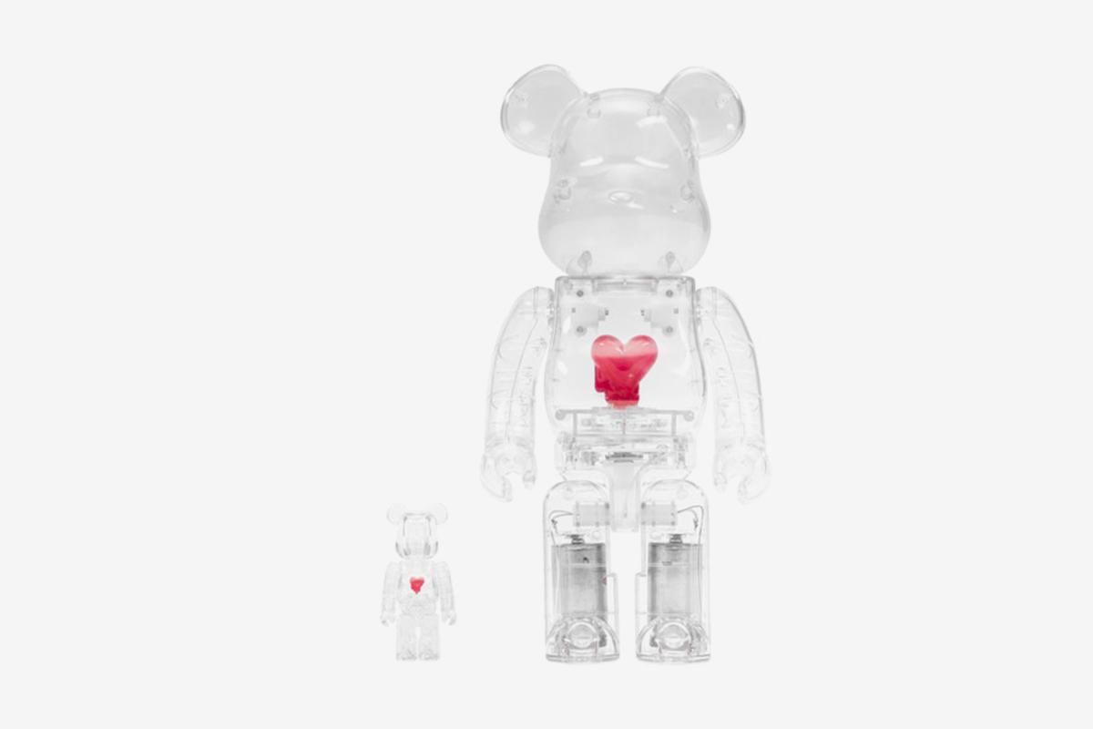 Bearbrick Emotionally Unavailable Heart 100% & 400% Set