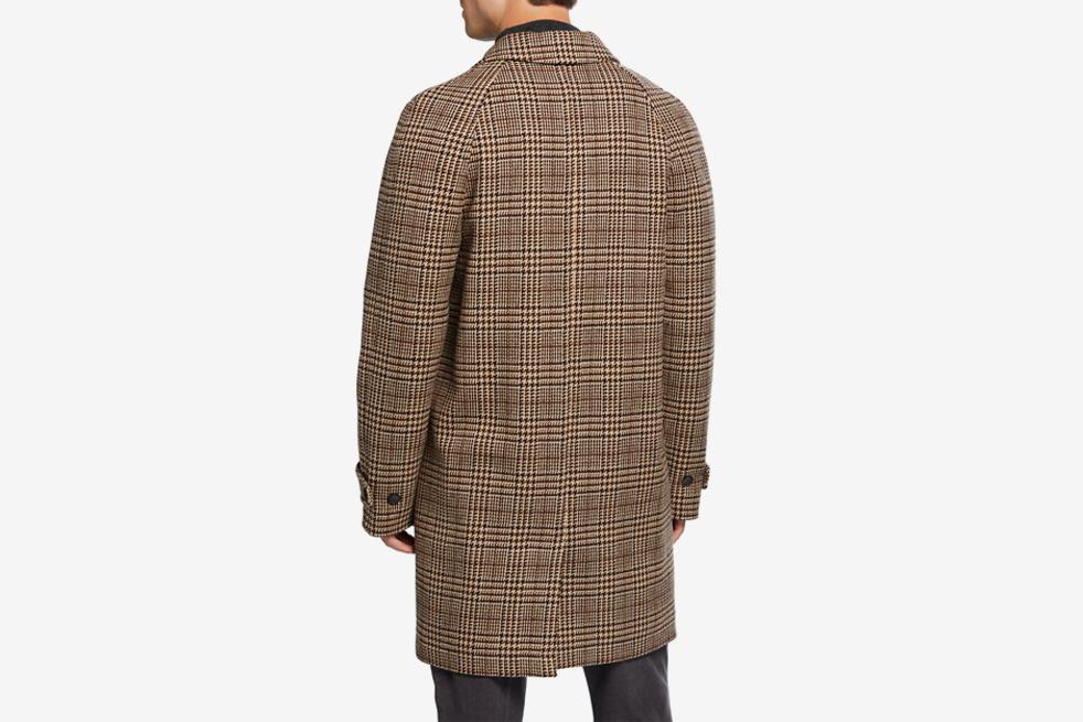 Stephane Glenn Plaid Wool Overcoat