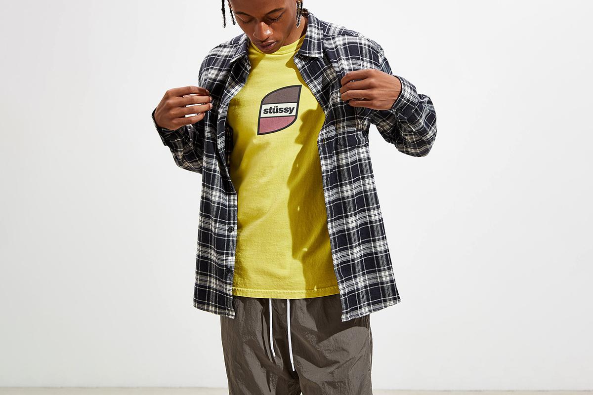Plaid Flannel Button-Down Shirt