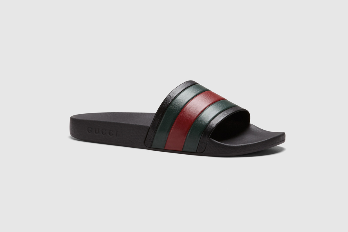 Black Rubber Slide