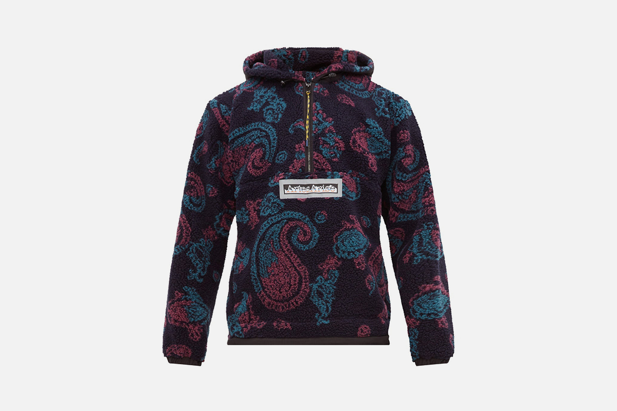 Half Zip Paisley Fleece Jacket