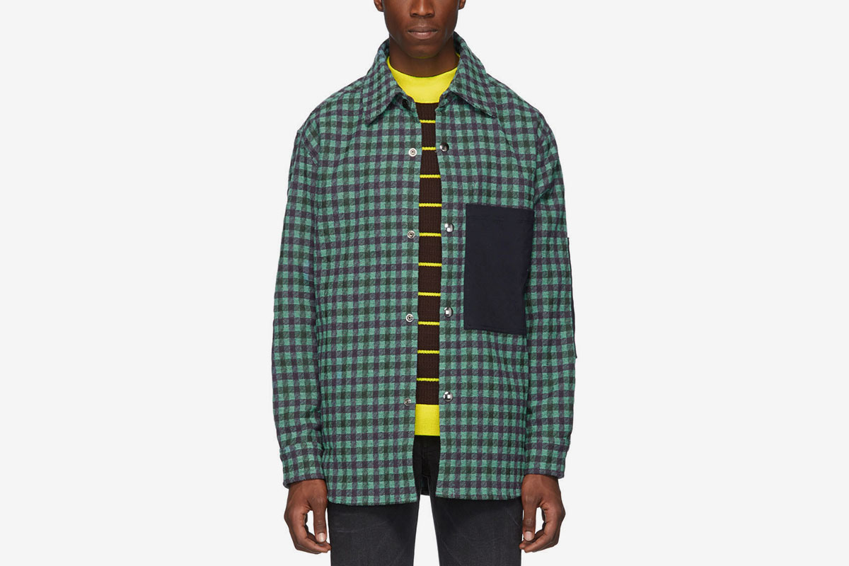 Plaid Wool Overshirt