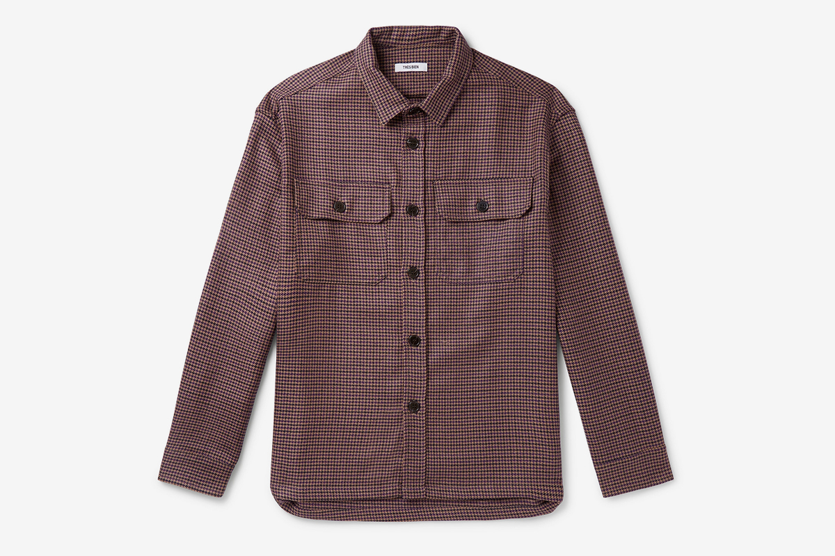 Houndstooth Virgin Wool Overshirt