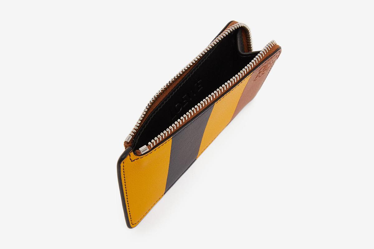 Striped Leather Cardholder