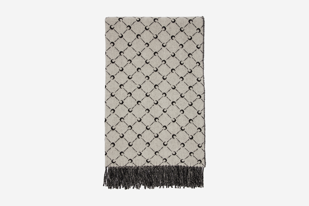 Wool All Over Moon Scarf