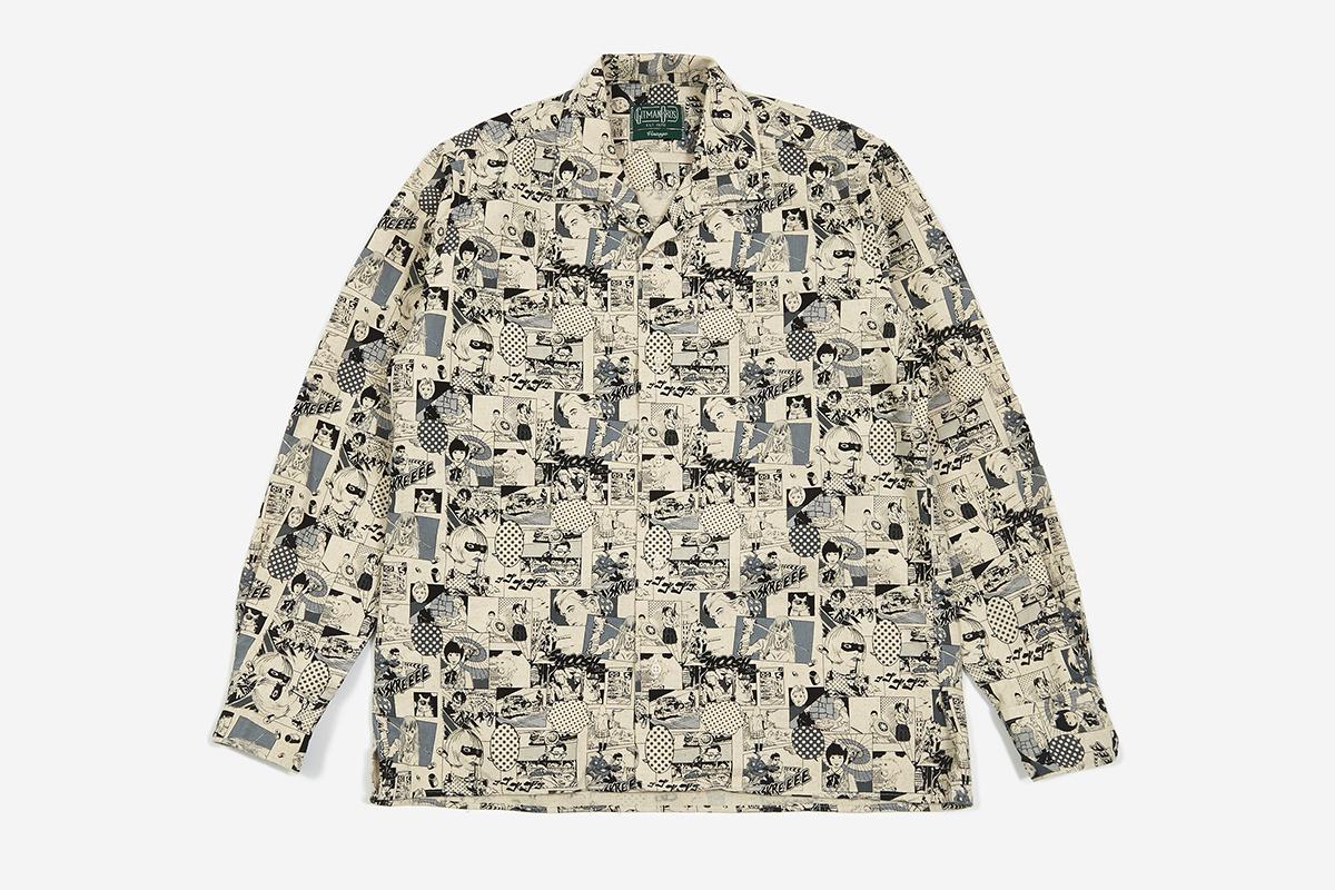 Open Collar Longsleeve Shirt - Anime Winter Linen