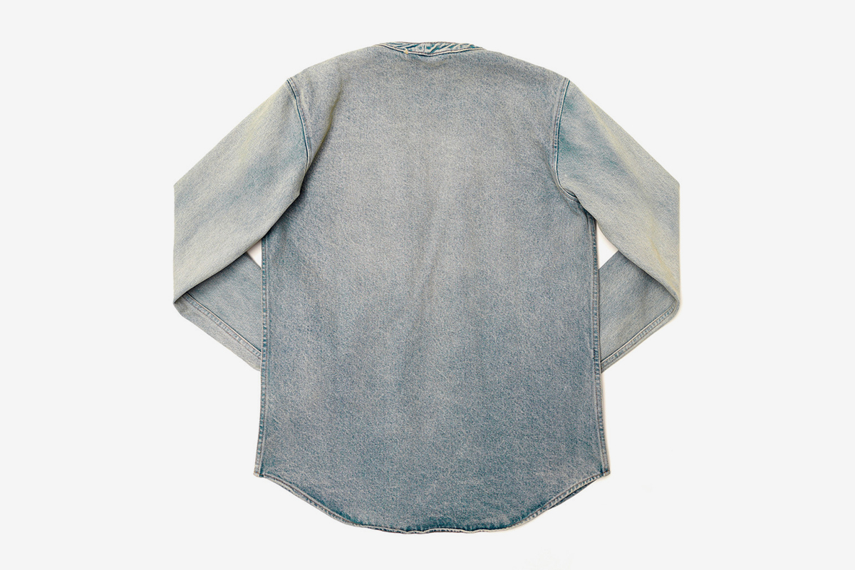 Denim Throw Over Shirt