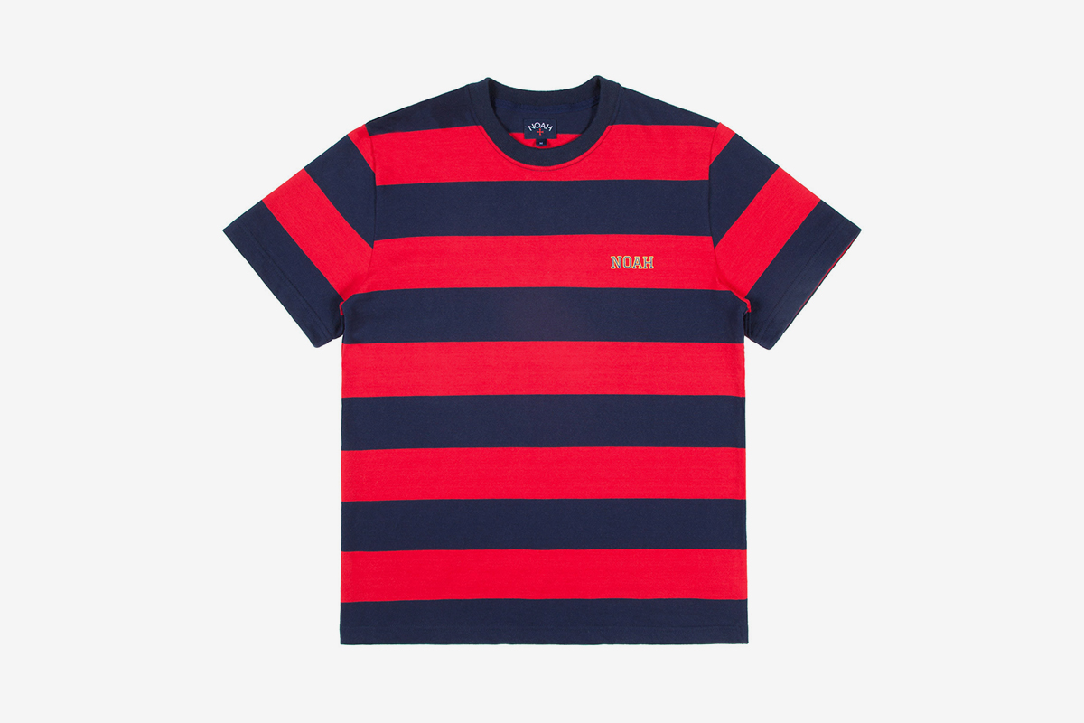 Noah hoop stripe t shirt what drops now for Best place to get t shirts printed