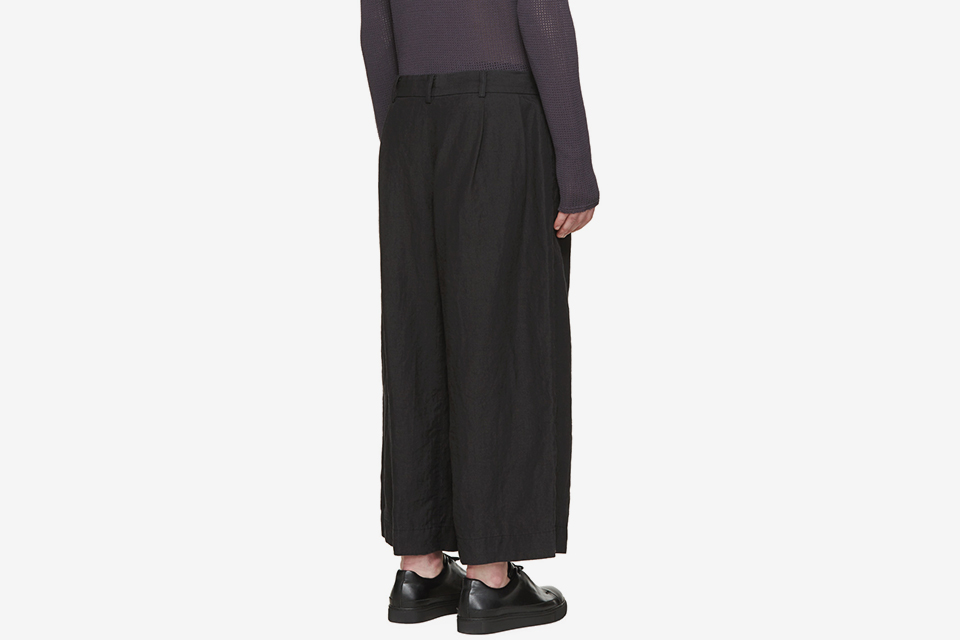 Black Hemp & Linen Trousers