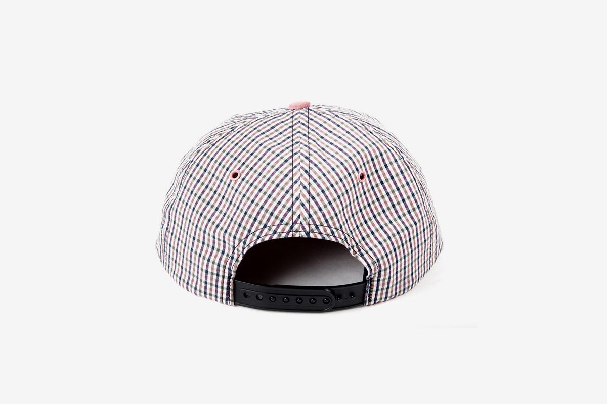 Suede Check Cap