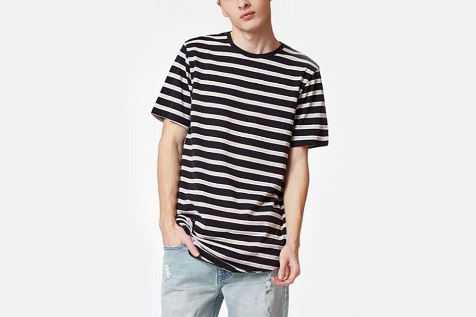 Wen Striped Scallop T-Shirt