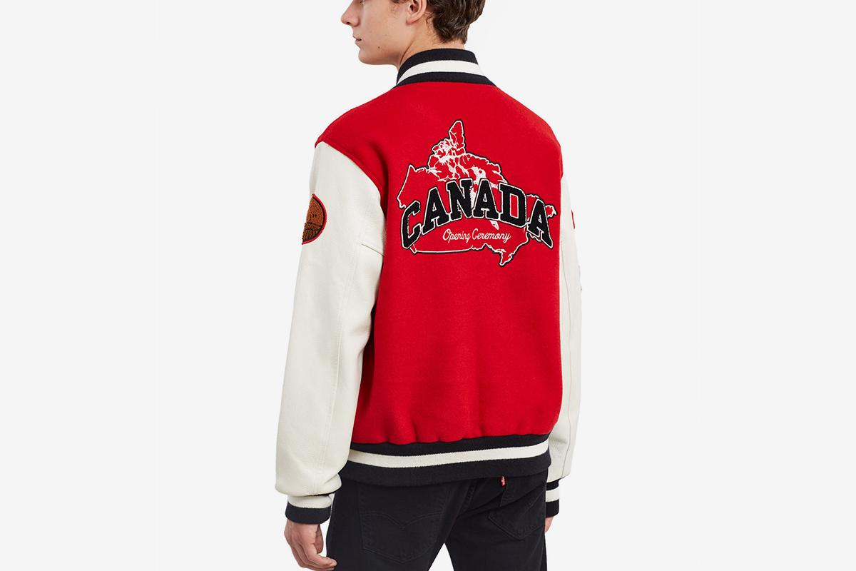 Opening Ceremony Canada Varsity Jacket What Drops Now