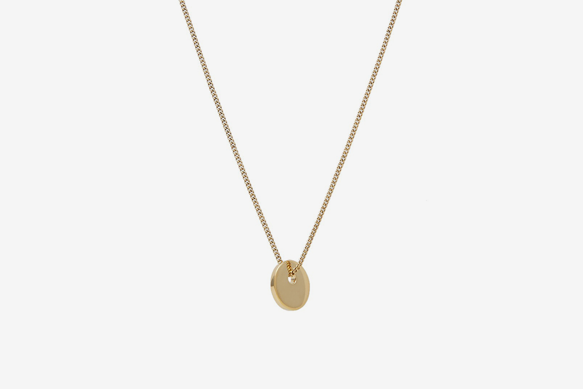 apc medallion disc p c pendant necklace a serge gold