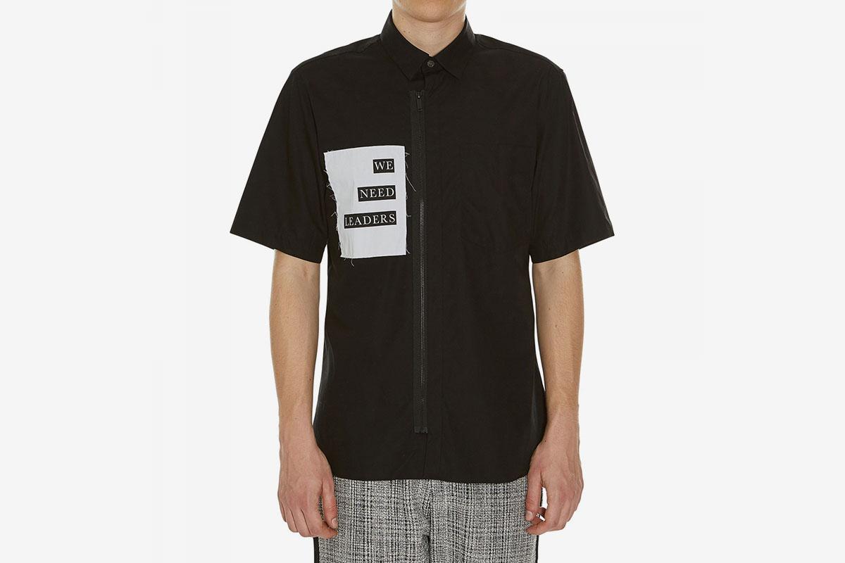 Botton Zip Up Shirt