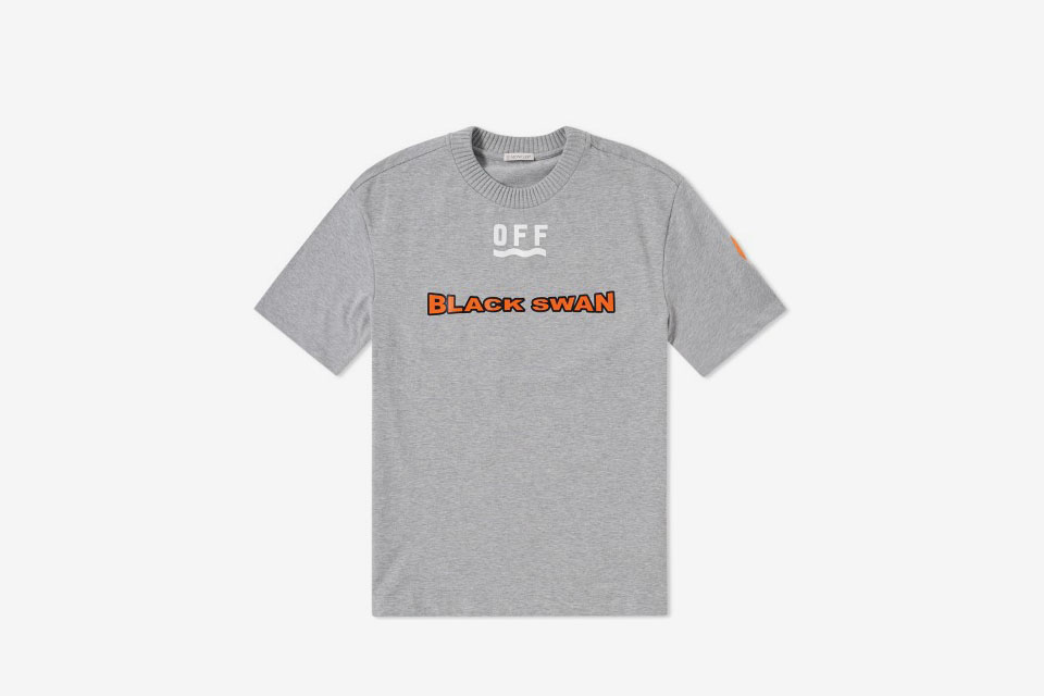 Moncler x off white black swan tee what drops now for Off white moncler t shirt