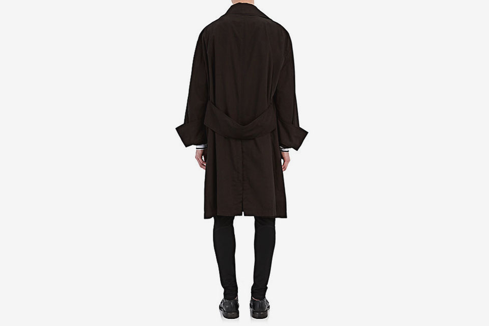 Tropical Cotton Gabardine Oversized Coat