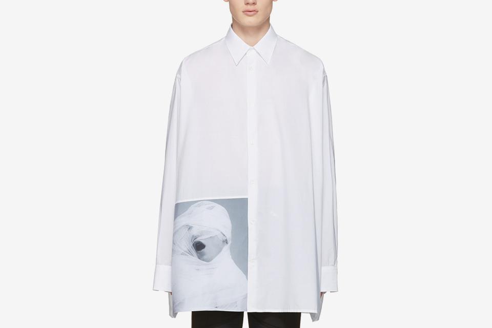Raf simons robert mapplethorpe edition white gauze for Raf simons robert mapplethorpe shirt