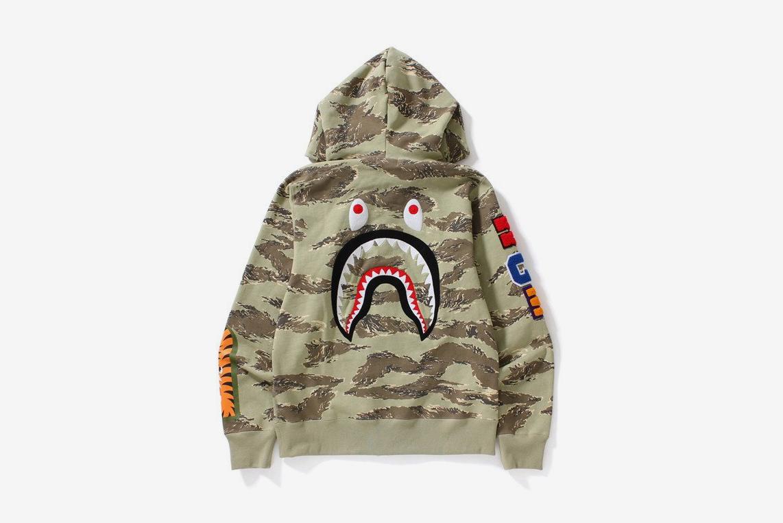 Tiger Camo Shark Full Zip Hoodie