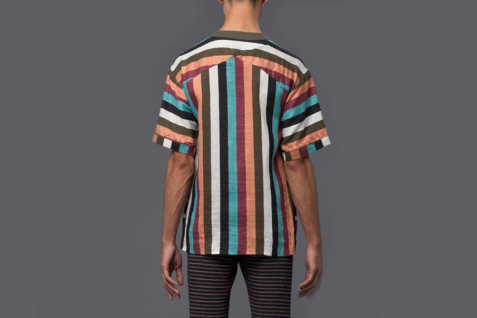 Striped Linen Beach Shirt