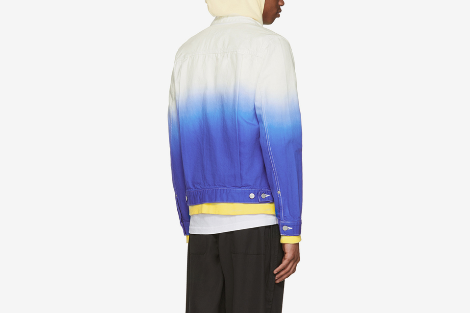 Denim Tie-Dye Degradé Jacket