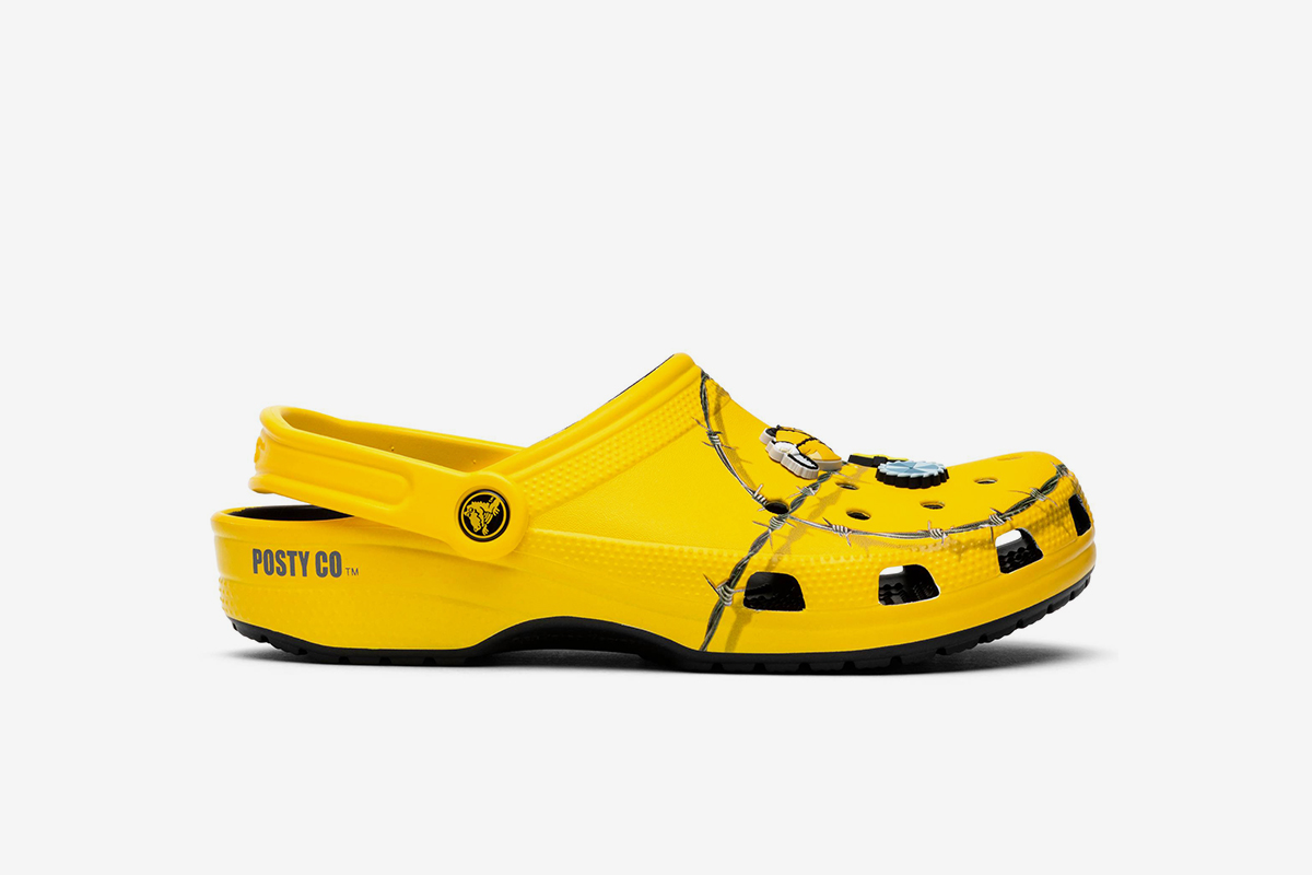 Post Malone Barbed Wire: Post Malone X Crocs Clog 'Barbed Wire'