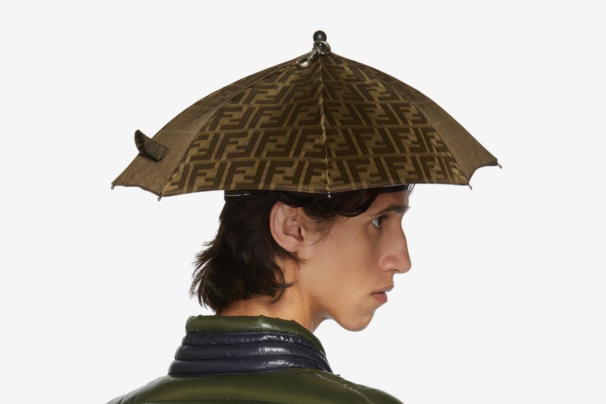 e006b057d Fendi's Logo Print Umbrella Hat is a Must for Fashion Weeks