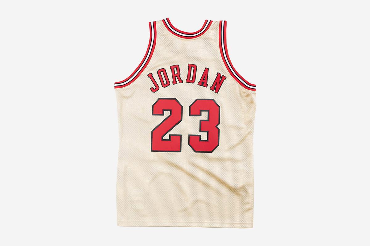 1d14da229b0 Premium Gold Jersey Chicago Bulls 1995-96 Michael Jordan
