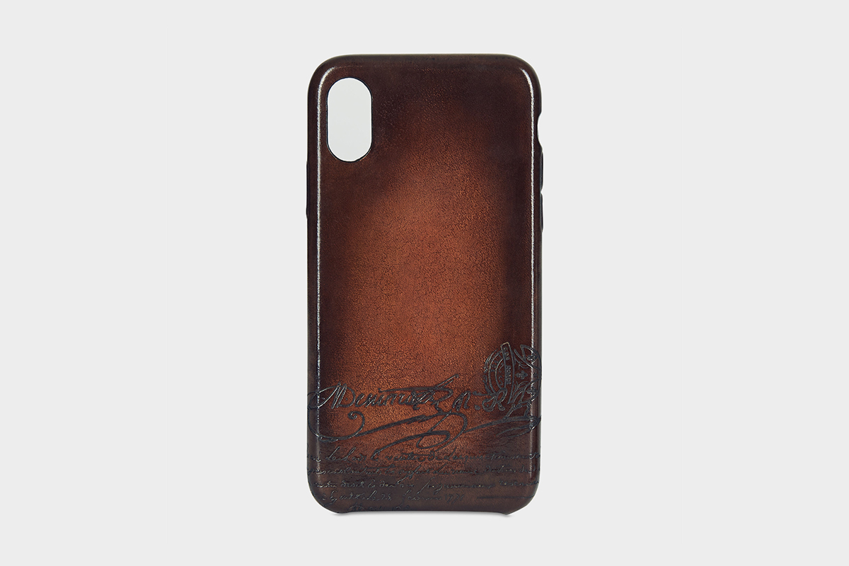 Scritto Leather iPhone Xs Case