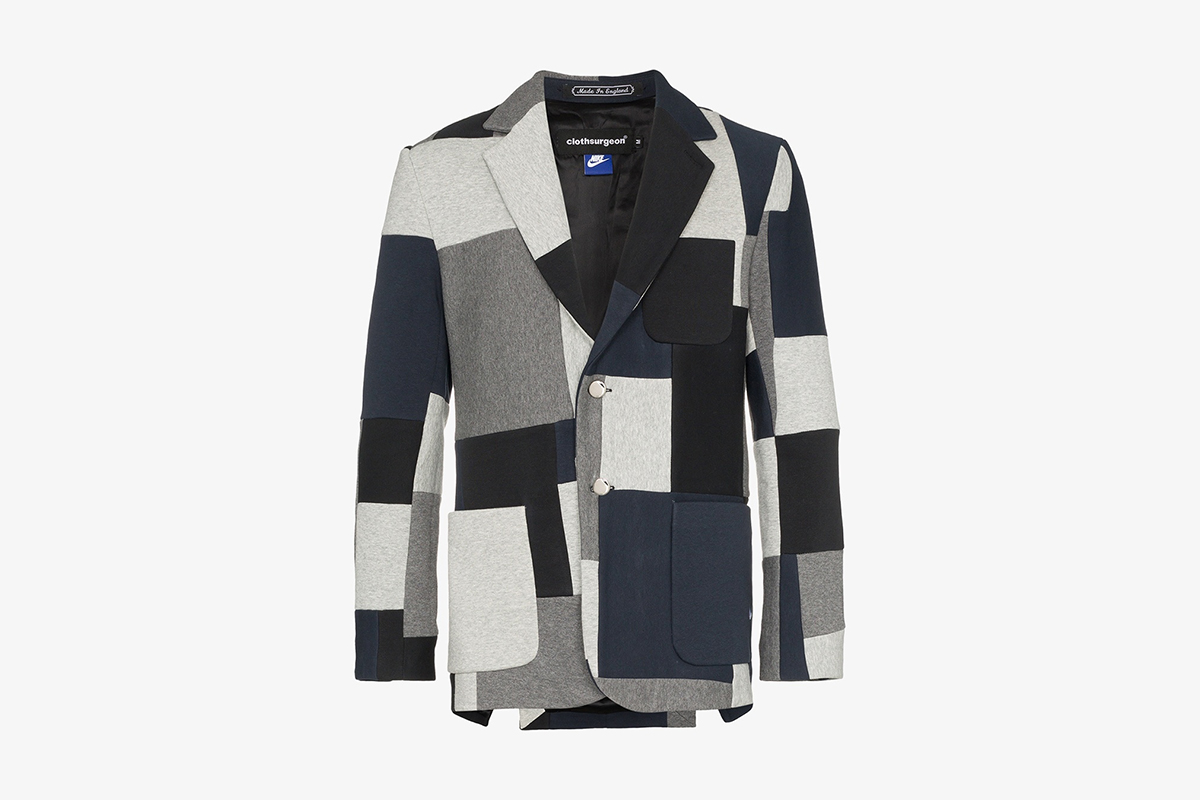 Nike Reconstructed Patchwork Blazer