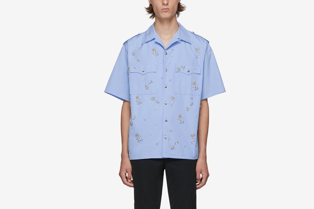 1c5bdb97 These Prada Shirts are Crystal-Embellished Opulence