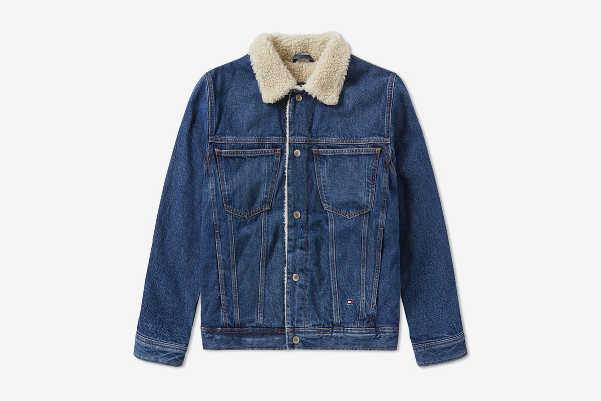 35941cb8 Tommy Hilfiger 90's Denim Sherpa Jacket | What Drops Now