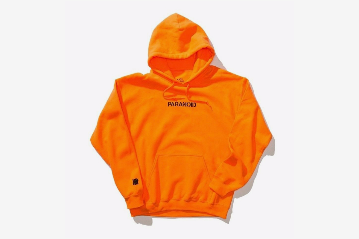 884d5413ac13 Product description. Classic hoodie with printed graphics. ASSC x UNDFTD. Paranoid  Hoodie
